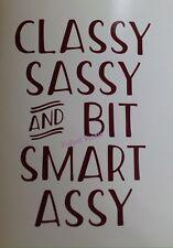 Funny Window Decal Classy Sassy Smart Assy Car Truck Jeep SUV Wall Vinyl Sticker
