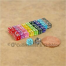NEW 5mm Deluxe Rounded Edge D6 36 Transparent Mini RPG Game Dice Set - 9 Colors