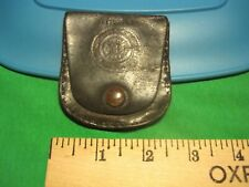 RARE Vintage Stamped Leather NEW YORK FIRE DEPARTMENT Badge Holder UFA UNION NY
