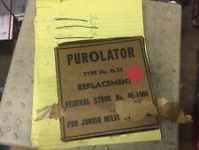 vintage truck bus truck car jeep military purolator n51 oil filter