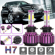 New 4-Sides LED H7 Headlight Bulb Kit for Mercedes-Benz C300 B200 C230 C250 C240