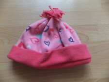 Girls pink fleecy hat.  Age 6-8 years.  From Mothercare.