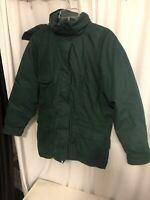 Eddie Bauer Snowline Goose Down Winter Coat Parka Green Women's  L Hooded