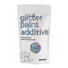 Hemway Silver Rainbow Stars & Moons Glitter Paint Crystals Emulsion Wallpaper