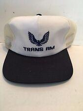 Vintage  Pontiac Trans Am Hat Adjustable Trucker Mesh 70's - NEW NEVER WORN!!