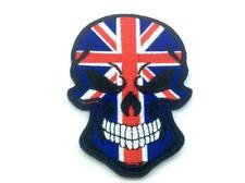 Union Jack Skull Flag Embroidered Airsoft Paintball Patch