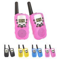 Pink Pair Retevis RT388 Kids Walkie Talkies UHF 2-Way Radios VOX LCD Toy Gift
