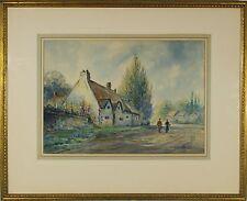 Aubrey Ramus (British, 1895-1950) Cottage Scene Original Watercolor Painting