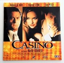 LASERDISC / CASINO - ROBERT DE NIRO , JOE PESCI , SHARON STONE / CD VIDEO PAL TV