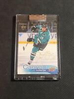 2019-20 UPPER DECK BUYBACKS JOE THORNTON '16-17 UD CANVAS AUTO GOLD #ed 3/10