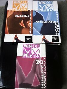 3 Mari WINSOR PILATES VHS VIDEO TAPES not DVD BODY SCULPTING WORKOUTS fitness