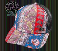 New Billabong Heritage Mashup Paisley Womens Trucker Snapback Cap Hat