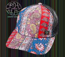 New Billabong Heritage Mashup Paisley Womens Trucker Snapback Cap Hat