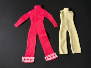 """Palitoy Action Girl vintage red jumpsuit + yellow fit 12"""" fashion doll 1:6"""