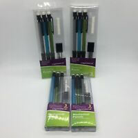 Wexford Mechanical Pencils 3 Pack Erasers 12 Refill Leads 0.7mm Lot of 4 Packs