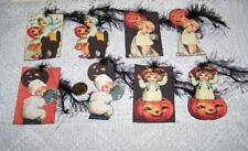 Halloween~Vintage~Paper Die Cuts~Linen Cardstock~Gift~Hang~Tags~Ornies~Cards