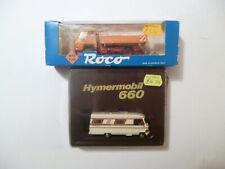 Lot x 2 HO 1:87 Model Vehicles: Roco 1653 Truck, Rietze 10070 Hymermobil 660