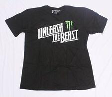 Monster Energy Men's Short Sleeve Unleash The Beast T-Shirt SV3 Black Large
