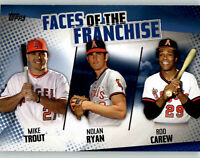 2019 Topps Series 2 Faces of the Franchise #1 Blue TROUT/CAREW/RYAN Angels