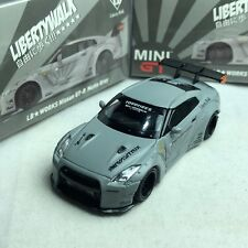 1/64 TSM Model MINI-GT Nissan Skyline LB Works GTR R35 Matte Grey RHD