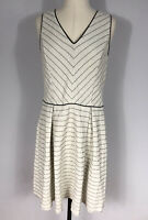Stitch Fix 41Hawthorn White and Black Stripe Fit and Flare Dress Women's M