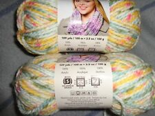 Premier SERENITY yarn LOT of 2 skeins GOLDEN Bulky Chunky