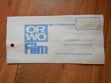 Orwo Film Fototasche Kleinbildtasche Rückgabetasche Werbung DDR 20cm Lang