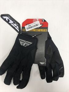 Fly Racing Black Patrol XC Lite Gloves ( Size L / Large ) - 370-67010 Open Box