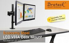 "Brateck LDT07-C024 Dual-Arm Steel LCD VESA Desk Mount, for 13""-27"" LCD Moniters"
