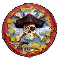 Pirate Deblume Gold Coins Skull n Bones Treasure Island Birthday Party Balloon