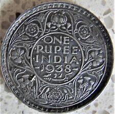 1938(b) INDIA BRITISH George VI, Silver Rupee, grading VERY FINE. RARE