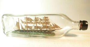 NICE ANTIQUE MODEL SHIP IN A BOTTLE NAMED VENUS