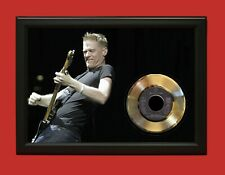 Bryan Adams Poster Art Wood Framed 45 Gold Record Display C3