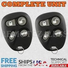 2 for 1998 1999 2000 Cadillac Eldorado Keyless Entry Remote Car Key Fob 444