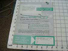 vintage Paper Ephemera: YOU CAN PRODUCE BOLDFACE ON YOUR IBM TYPEWRITER paper