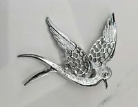 Lovely  Vintage Silver-tone Bird Brooch by Sarah Coventry Jewellery