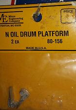 N Scale Micro Engineering Oil Drum Platform 80-156 NIB