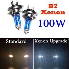 2PCS H7 100W XENON LED 12V Voiture Lumière Lampe Phare Ampoule Blanc Headlight
