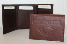 Cincinnati Reds Brown Trifold Genuine Leather Wallet Baseball MLB Great Gift