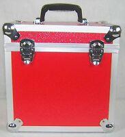 "1 X NEO Aluminum Records 12"" DJ Red Storage for 50 Vinyl LP carry Case"