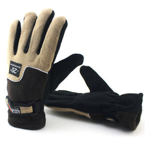 Mens Ladies Thermal Windproof Fleece Casual Snow Gloves Warm Ski Cycling Mittens