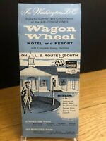 Wagon Wheel Motel & Resort Brochure Washington DC 1950s