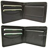 Small Wallet Soft Real Leather Visconti New in Gift Box Black or Brown HT7
