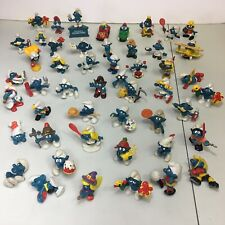 Vintage Lot Of 50 Smurf Schleich Peyo Figures 1980's