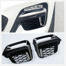 Pair Front Fog Light Frame Cover Grille Trim For BMW X3 X4 G01 G02 2018 2019 20