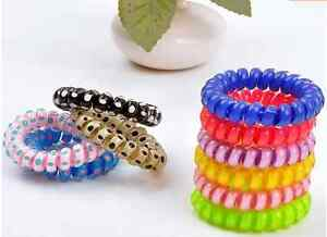New Ladies Elastic Rubber Hairband Phone Wire Hair Tie Ring Rope Band Ponytail