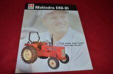 Mahindra E40 DI Tractor Dealers Brochure  LCOH