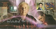 Torchwood First 1st Day Stamp Cover Signed Richard Briers Day in The Death LE