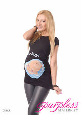 It's a Boy-Adorable Slogan Cotton Printed Maternity Pregnancy Top T-shirt 2002d