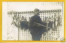 Real Photo Postcard RPPC Hunting Hunter Rabbits #1